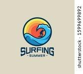 surfing summer vector...   Shutterstock .eps vector #1599699892