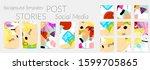 social media story templates.... | Shutterstock .eps vector #1599705865