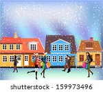 people going shopping | Shutterstock .eps vector #159973496