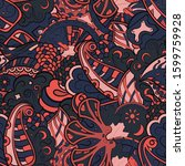 tracery seamless pattern.... | Shutterstock .eps vector #1599759928