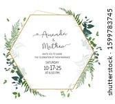 herbal minimalist geometric... | Shutterstock .eps vector #1599783745