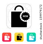 new shopping bag icon. vector...
