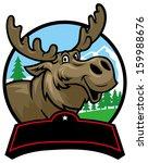 alaska,animal,antler,background,big,brown,bull,canada,cartoon,deer,design,elk,emblem,fauna,fur