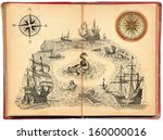 old pirate book | Shutterstock . vector #160000016