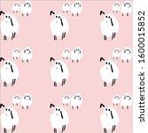 herd of cute lambs on a pink... | Shutterstock . vector #1600015852