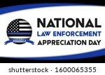 national law enforcement... | Shutterstock .eps vector #1600065355