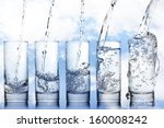 Stages Of Pouring Water Into A...