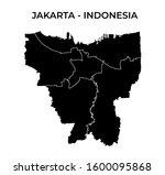 jakarta indonesia blank map... | Shutterstock .eps vector #1600095868