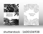 tropic covers set. colorful... | Shutterstock .eps vector #1600106938