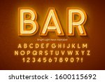 neon light 3d alphabet  extra... | Shutterstock .eps vector #1600115692