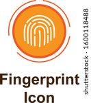 fingerprint icon in trendy flat ...