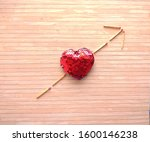 Small photo of This is Heart Shape and Match stick art which describes love.