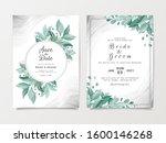 elegant wedding invitation card ... | Shutterstock .eps vector #1600146268