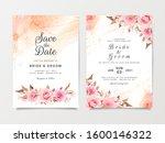 artistic wedding invitation... | Shutterstock .eps vector #1600146322
