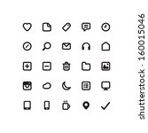 set of web icons | Shutterstock . vector #160015046