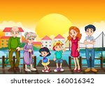 illustration of a family at the ...   Shutterstock .eps vector #160016342