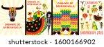 set of carnival of barranquilla ... | Shutterstock .eps vector #1600166902