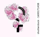 the future is female. female... | Shutterstock .eps vector #1600171438