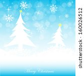 christmas greeting card with... | Shutterstock .eps vector #160026512