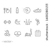 gym icon set  sport fit... | Shutterstock .eps vector #1600280155