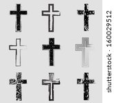 grunge cross | Shutterstock .eps vector #160029512