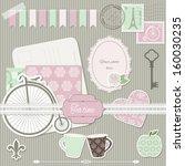 scrapbook design elements...   Shutterstock .eps vector #160030235