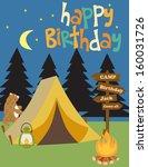 happy birthday invitation | Shutterstock .eps vector #160031726