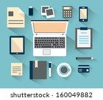 business,check,computer,concept,design,desk,device,digital,document,element,flat,gadget,illustration,infographic,information