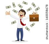 businessman got huge amount of... | Shutterstock .eps vector #160058678