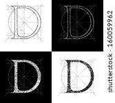 Decorative Symbol D  Vector...