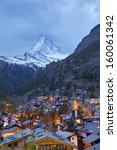 zermatt and matterhorn. image... | Shutterstock . vector #160061342