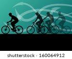 active men and woman cyclists... | Shutterstock .eps vector #160064912
