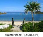 Old town beach in St. Mary's, Isles of Scilly. - stock photo