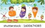 fresh vegetables for healthy... | Shutterstock .eps vector #1600674385