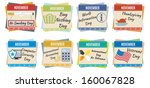 world holidays. november | Shutterstock .eps vector #160067828