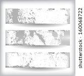 set of grunge banners   Shutterstock .eps vector #160068722