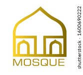 gold mosque. dome of the mosque ...   Shutterstock .eps vector #1600690222