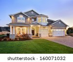 beautiful home exterior  | Shutterstock . vector #160071032