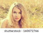 portrait of beautiful blonde... | Shutterstock . vector #160072766