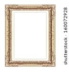 vintage frame isolated on white ...