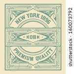 retro stamp design. organized... | Shutterstock .eps vector #160073792