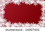red snowflakes frame. easy to... | Shutterstock .eps vector #16007431