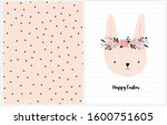happy easter. lovely easter... | Shutterstock .eps vector #1600751605