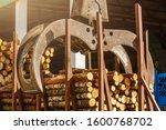 Log Loader At Sawmill. Bunching ...