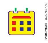 calendar icon design vector...