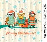 vintage christmas background... | Shutterstock .eps vector #160079756