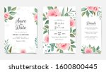 floral wedding invitation card... | Shutterstock .eps vector #1600800445