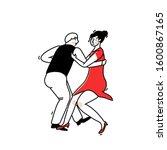 lindy hop dance illustration.... | Shutterstock .eps vector #1600867165