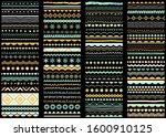 brush line and border set. hand ... | Shutterstock .eps vector #1600910125