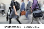 business people at rush hour... | Shutterstock . vector #160092512